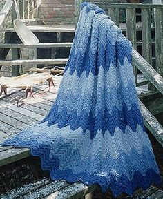 Wintry Ripple Afghan Crochet Pattern ePattern