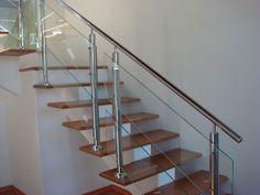 madeira com vidro em escada - Pesquisa Google