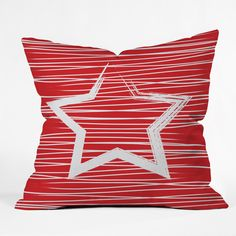 Julia Da Rocha White Star Outdoor Throw Pillow | DENY Designs Home Accessories