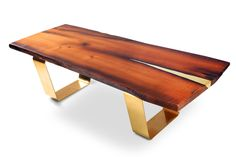 Live edge coffee table Antra. Modern coffee table. Brass coffee table. Unique table. Handmade by Railis on Etsy https://www.etsy.com/listing/247032275/live-edge-coffee-table-antra-modern