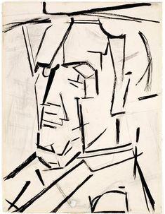 'Autorretrato 1' de Piet Mondrian (1872-1944, Netherlands)