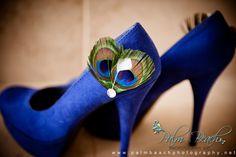 DIY Peacock Wedding Shoes {something blue}