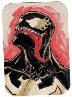 Venom sketch bust by mdavidct.deviantart.com on @deviantART