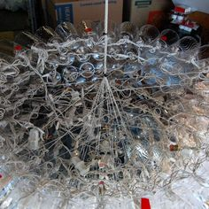 hanging support system of dacron fishing line for the giant NYE sparkleball. Fishing Line, Boro, Nye, Christmas Tree, Display, Happenings, Holiday Decor, Teal Christmas Tree, Floor Space