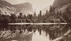 Listen to the Stuff You Missed in History Class Episode - Yosemite and James Hutchings, Pt. 1 on iHeartRadio Missed In History, Vintage California, California Room, Yosemite California, Hunting Art, Mirror Lake, Classic Photography, Yosemite Valley, History Class