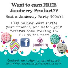 Host a Jamberry Party today!! http://bethanynicks.jamberrynails.net/