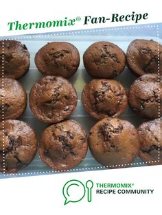 Recipe Chocolate Zucchini Banana Muffins by learn to make this recipe easily in your kitchen machine and discover other Thermomix recipes in Baking - sweet. Chocolate Zucchini Muffins, Toddler Food, Toddler Meals, Bellini, Healthy Treats, Chocolate Recipes, Scones, Sweet Recipes, Thermomix