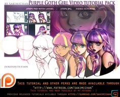 Available through my patreon pledge ! This Tutorial pack comes with ❆video tutorial 1h 4 min ❆PSD(step/step w lineart and color on separate layers) ❆JPG (step/step) Available t...