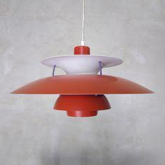 Red PH5 lamp, Denmark, 1960s, P. Heningsen | Czerwona lampa PH5, Dania, lata 60., P. Henningsen| buy on Patyna.pl | #forsale #vintage #vintagefinds #vintageshop #vintagelove #retro #old #design #home #midcenturymodern #want #amazing #home #inspiration #kitchen #decoration #furniture #ceramics #glass #lamp #ph5 #heningsen #danish #scandinavian #Minimal #red #klasyk #60s #1960s Vintage Love, Vintage Shops, Retro Living Rooms, Pop Up Stores, Midcentury Modern, Danish, Denmark, Scandinavian, 1960s