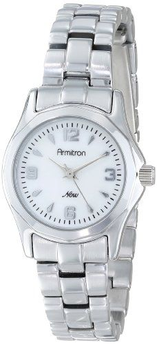 Introducing Armitron Womens 753861MPSV MotherofPearl Dial SilverTone Bracelet Watch. Great product and follow us for more updates!