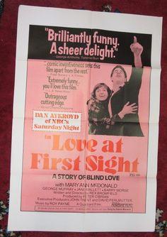 "LOVE AT FIRST SIGHT~Dan Aykroyd~27""x41""~ORIGINAL~1977~1-Sheet~Mid-Century~CANADA | eBay"