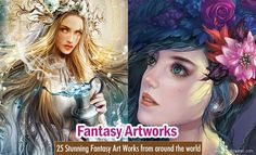 25 Stunning Fantasy Art Works from around the World |   http://myartmagazine.com/paintings | Art Magazine http://myartmagazine.com | Follow us www.pinterest.com/myartmagazine