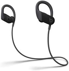 Amazon.com: Powerbeats High-Performance Wireless Earbuds - Apple H1 Headphone Chip, Class 1 Bluetooth Headphones, 15 Hours of Listening Time, Sweat Resistant, Built-in Microphone - Black: Electronics Best Running Headphones, Wireless In Ear Headphones, Beats Solo, Beats By Dre, Noise Cancelling, Ebay, Electronics Gadgets, Water, Black