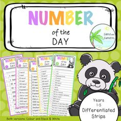 Number of the day strips New Number, Math Books, Year 2, Learning Environments, Differentiation, Math Resources, Math Centers, Maths, Sunsets