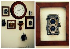 Vintage camera display...love love love!