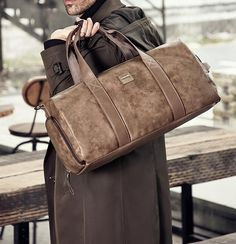 The Duffle Bag Trend You Need to Know in 2018 - Canvas Bag Leather Bag CanvasBag. Leather Duffle Bag, Messenger Bag, Satchel, Handbags, Canvas, Design, Backpacks, Totes, Leather School Bag