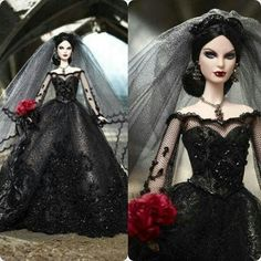 Image uploaded by PB. Find images and videos about barbie, vampire and dolls on We Heart It - the app to get lost in what you love. Pretty Dolls, Beautiful Dolls, Poupées Barbie Collector, Vampire Barbie, Barbie Halloween, Barbie Wedding, Wedding Dress, Gothic Dolls, Bride Dolls