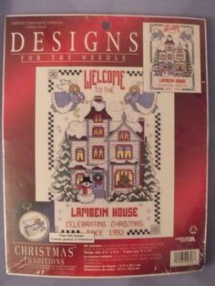 Celebrating Christmas Cross Stitch Kit Designs for the Needle Christmas Sampler  This is a new, unopened kit.