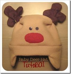 Baby Deer Hat Tutorial - This is in Italian, but if you use Google Chrome you can translate it to English!