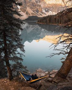 Hanging out by the water | Moraine Lake Alberta Canada | Michael Block Photography Say Yes To Adventure