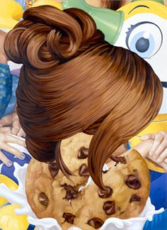 Hair oil on canvas 108 x 79 inches x cm © Jeff Koons 1999 Conceptual Art, Surreal Art, Kitsch, Jeff Koons Art, Damien Hirst, Beauty Magazine, Collage Artists, Art Icon, High Art