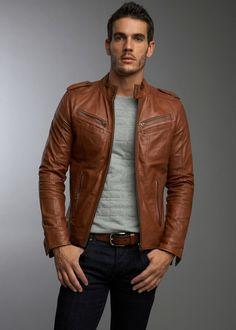 100% New Genuine Leather Lambskin Gents Motorcycle Jacket Biker Bomber Men MJ29
