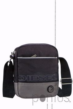 Bolsa p/tiracolo Diesel 16x20x5.5cm preta | JB