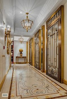 BEAUTIFUL mosaic floor, elevator entrance hall of residence in the Sherry Netherland NYC | 781 5th AveFL 18, New York, NY 10022 | 95,000,000.00!