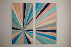 Sunburst Wall Art, Reclaimed Wood Decor,