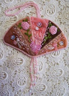 Embellishments into beautiful crazy quilted ornaments...By:quilting.craftgossip
