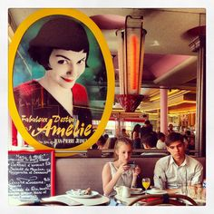 Looking for Amelie [Cafè des 2 moulins] Amelie, Audrey Tautou, Paris Restaurants, Cool Cafe, Le Moulin, Cafe Design, Film, Bella, Weeding