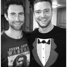 I really like the fact that Adam Levine and Justin Timberlake are friends. This fulfills me, and this fulfills my world. Although I am a super fan of Adam, I do love Justin. Justin Timberlake, Adam Levine, Pretty People, Beautiful People, Gorgeous Men, Divas, Maroon 5, David Beckham, Man Crush