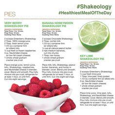 Shakeology Pies!! Very Berry Pie, Banana Honeymoon Pie and Key Lime Pie! Nom Nom Nom!