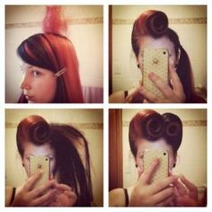 Hair How Tutorial: Picture - UpStyle - Pin Up - Victory Rolls by echkbet