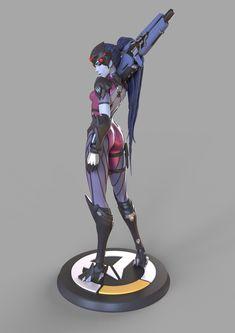 Widowmaker Overwatch figure preview, Caizergues Noel on ArtStation at https://www.artstation.com/artwork/XzZVy