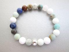 Multi color bracelet healing bracelet gemstone by JewelryArtShop