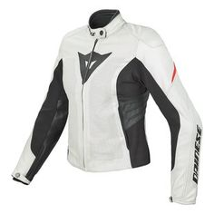Dainese Women's Laguna EVO Perforated Leather Jacket in White/Red - $499.95