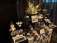 Black and White Lolly Buffet by Sweet Buffets, via Flickr