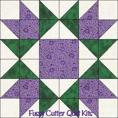 Scrappy Patchwork Star Burst Easy PreCut Quilt Blocks Top Kit