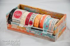 cute DIY Washi tape dispenser with intructions - by Cheryl's Window