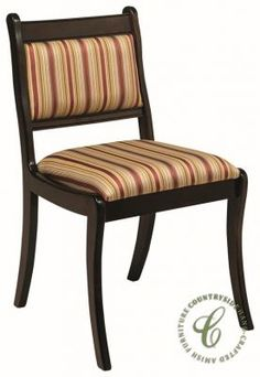 A frame of solid wood is handmade by our Amish furniture experts for our Athenian Upholstered Dining Chair which is then stained to your liking.