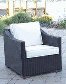 Patio Wicker Outdoor Chair Portafino: Black Forest
