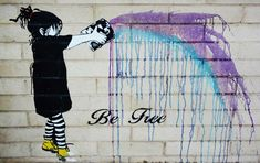 Bendigo's street art from areas including Chancery Lane and Pennyweight Lane… Bansky, Amazing Street Art, Art For Art Sake, Street Art Graffiti, Chalk Art, Land Art, Beauty Art, Street Artists, Types Of Art