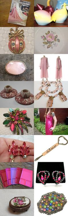 Tickled Pink at Vintage Explosion by Sultana Schwartz on Etsy--Pinned with TreasuryPin.com