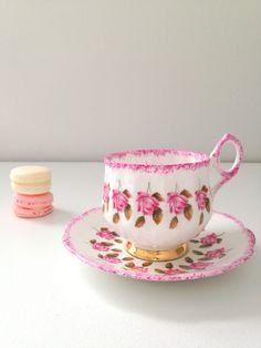 Vintage Rosina Rose Chintz Tea Cup & Saucer by MariasFarmhouse, $65.00