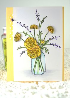 All Occassion Card **NEW PENNY BLACK FRAGRANT - Scrapbook.com - Beautiful coloring on this stamped card front.