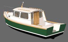 Down East Cruiser 23 - Study Plans Wooden Model Boats, Wooden Boat Building, Boat Building Plans, Wood Boats, Free Boat Plans, Wood Boat Plans, Yacht Design, Boat Design, Pilothouse Boat