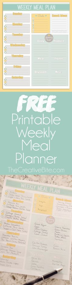 this free printable weekly meal planner to organize your menu and grocery list. Take the guess work out of preparing weeknight dinners and grocery shopping trips with this easy planner. Meal Planner Calendar, Free Meal Planner, Meal Planner Printable, Happy Planner, Planner Diy, Weekly Food Planner, Printable Weekly Schedule, Weekly Meal Plan Template, Dinner Planner