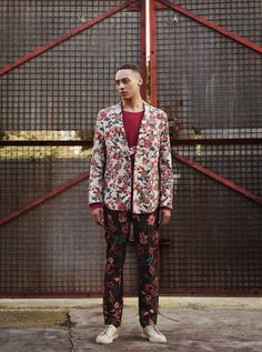 The Alchemists - The raw materials of menswear undergo a transformation for spring. Botanical prints and moody blooms breathe new life into the smart/casual silhouette.   Photography: Nik Hartley Styling: Christopher Preston
