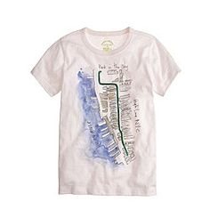 Kids' crewcuts for High Line watercolor map tee